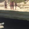 【犬】ジンルイに混ざって崖から海に飛び込む犬がいる