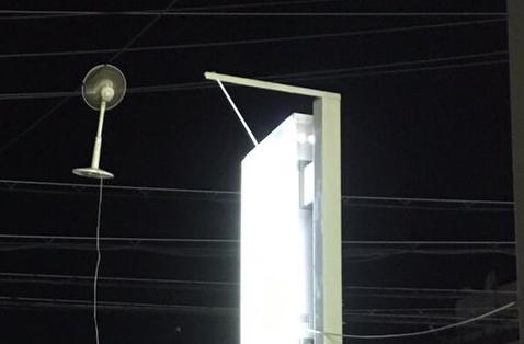 扇風機 電線 ありえない