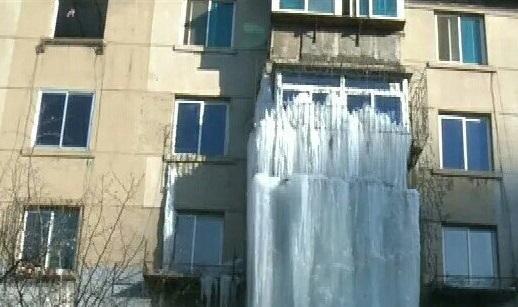 中国 アパート 漏水 マイナス20℃